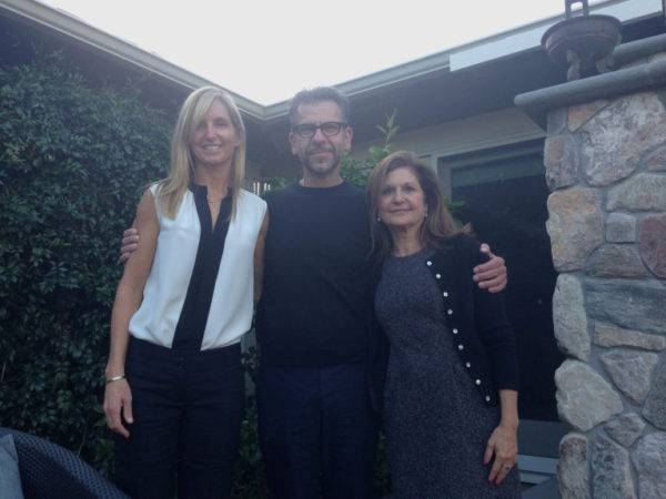 Stacy Drazan, from left, Chris Tanti and Susan Bird are part of the team planning to launch SafeSpace, a center for teens to discuss and get help with mental health issues, in Menlo Park by next August. The photo, taken Nov. 1, 2016, was taken in the backyard of Bird's Menlo Park home. (Kevin Kelly / Daily News)