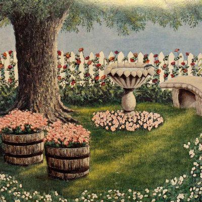 Note Card Garden Retreat