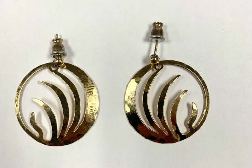 Jewelry Earrings Large Post Back Gold