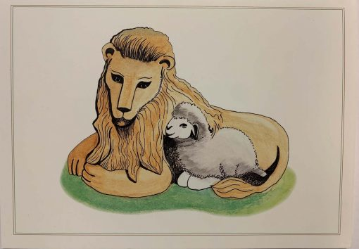 Note Card Lion and Lamb