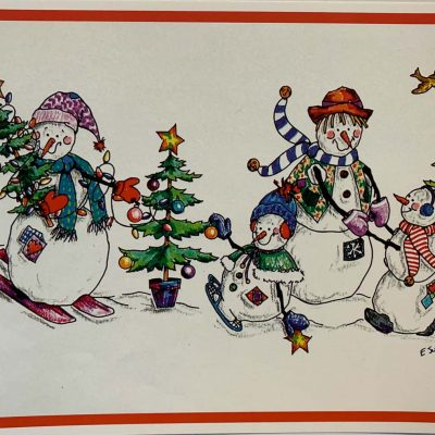 Holiday Card Mr. Snowman and Family