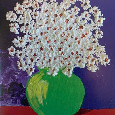 Note Card Popcorn Flowers