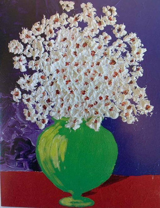 Note Card Popcorn Flowers