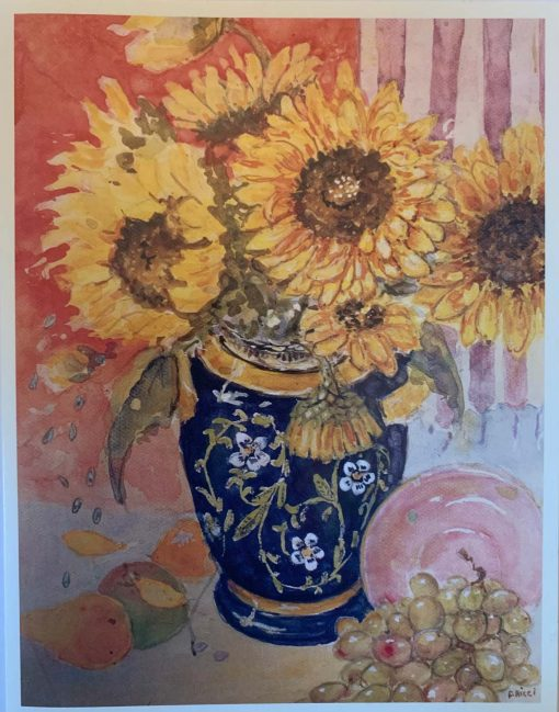 Note Card Sunflower in Vase