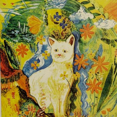 Note Card White Cat